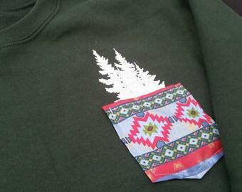 Tree Pocket Crewneck
