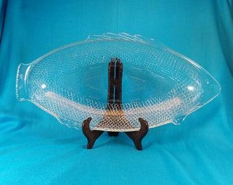 Glasbake Fish Platter Vintage Kitchen Baking and Serving Platter