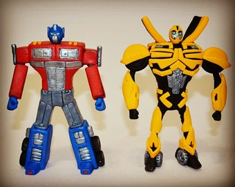 Transformers fondant cake toppers