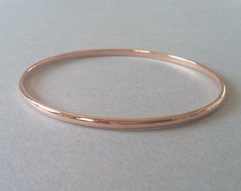 Rose Gold Bangle Gold Bangle Bracelet Gold Bracelet Bangle rose gold bangle 14k gold bangle bridesmaid gift Solid gold bangle Gold bangles