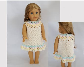 """Dress fits 18"""" dolls such as American Girl"""
