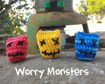 The original Worry Monsters - Tiny friends to eat your anxieties away - MythBegotten Best Seller!