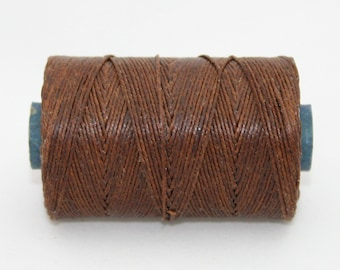 Waxed Irish Linen Thread Walnut Brown 7 Ply Waxed Thread