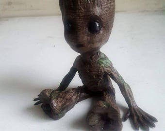 baby Groot hand painted