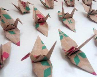 Set of origami cranes: Diamond Collection