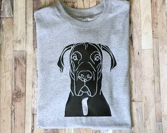 Great Dane Face Silhouette - Dane Mama Shirt