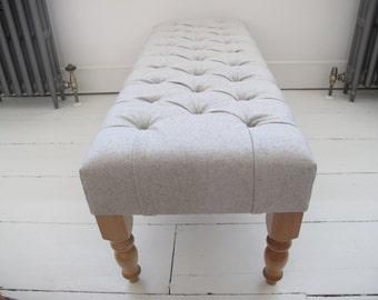 New end-of-bed deep buttoned bench