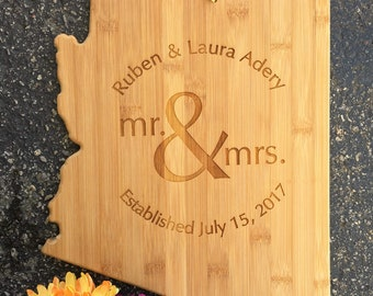 Arizona Cutting Board,State,Cutting Board,Personalized Cutting Board,Shower Gift,Wedding Gift,Anniversary Gifts,Housewarming Gift