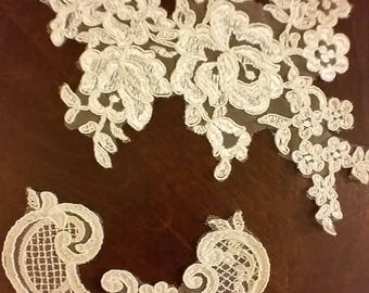 25 Ivory Lace Appliques from Allure Bridal