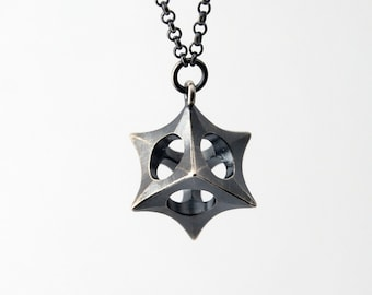 The Cube Necklace - Sterling silver necklace