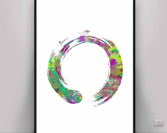 Zen Art, Zen Enso Art, Meditation Art, Digital Art, Digital print, Mindful Art, Peaceful Art, Energy Art, Energy Print, Yoga Art, Buddhism