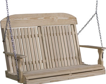 LuxCraft 4ft. Classic Highback Treated Porch Swing