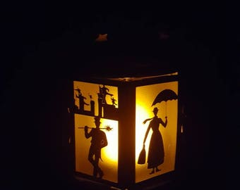 Small Mary Poppin lantern with electronic candle