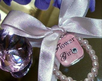 Flower Girl Swarovski Keepsake Bracelet,WEdding,Bridal Accessories