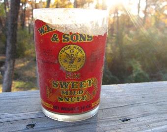 Garret's Sweet Mild Snuff Glass