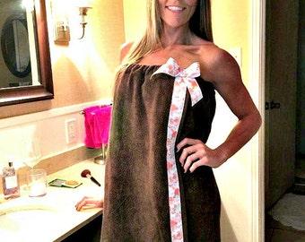 Shower Wrap- Towel Wraps- Spa Wrap- Bath Towel Wrap- Spa Wraps- Monogrammed Towel Wrap- Spa Towel Wrap- Bath Wrap Towel- Shower Gift