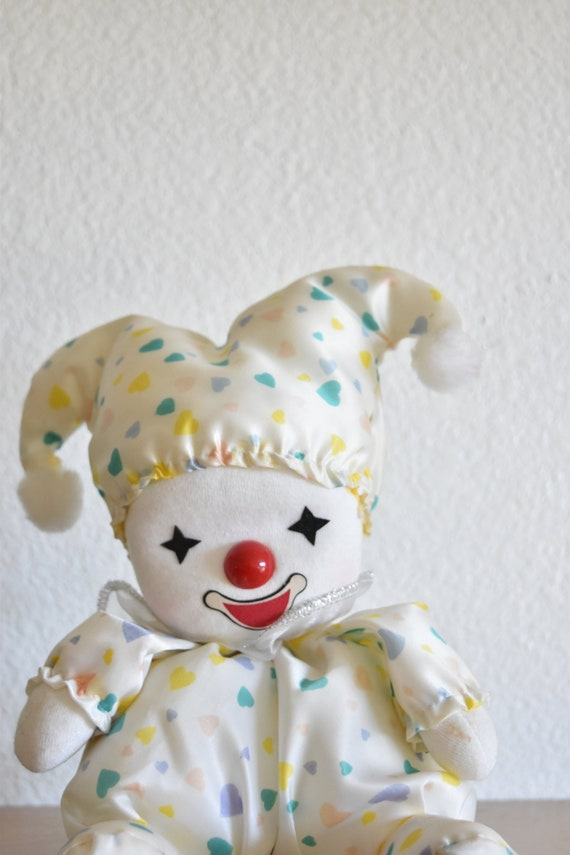 vintage wind up musical clown / moving dancing dolls / gift for little girl