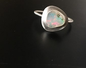 Raw Opal Ring in Sterling Silver