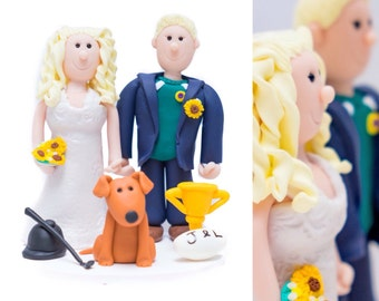 Handmade personalised wedding cake topper