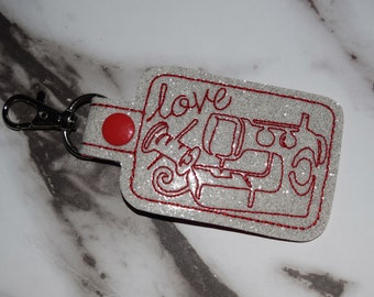 Sewing Love Keychain