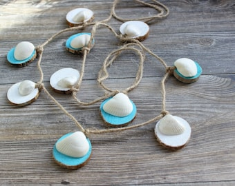 Shell & Driftwood Garland , nautical home decor , beach wedding decoration