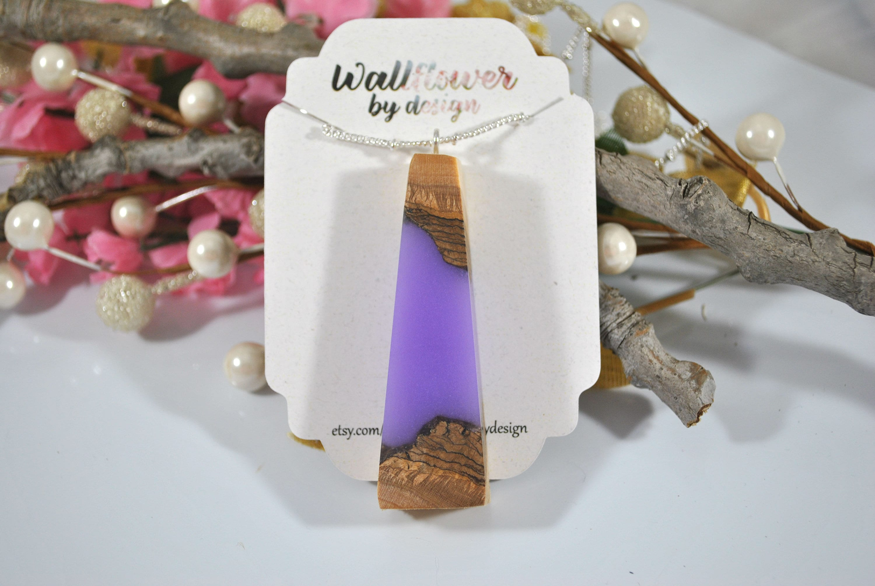 Wood Resin Wood Jewelry Boho Necklace Wood Necklace Hippie