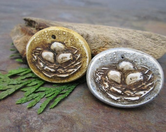 Sweet Nest Pendant in Your Choice of Harvest Gold or Balmy Blue