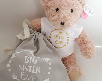 Big Sister Gift Big Sister Shirt  Big Brother Shirt Baby Shower Gift New Baby Gift Pregnancy Reveal Sister Brother Gift Sister
