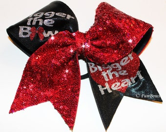 Bigger the Bow - Bigger the Heart Cheer bow by Funbows GLITZ