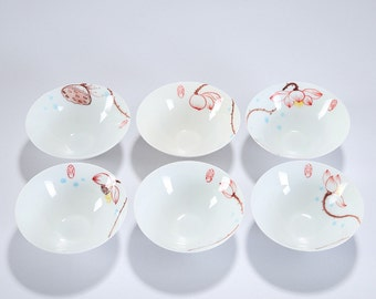 6 Dehua Porcelain Handmade Drown White Ceramic Tea Cup 45cc