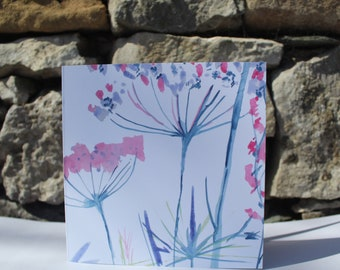 Seed Heads greetings card