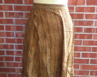 Vintage 80s/90s Clio leopard-type print knee-length skirt. Size Large
