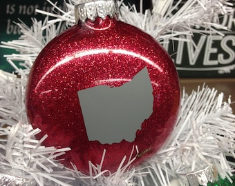 Holiday Christmas Tree Ornament Ohio State Buckeye Ohio HOME