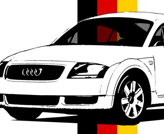 Audi TT Art Audi TT Decor Garage Art Audi Car Art Audi - Audi car garage