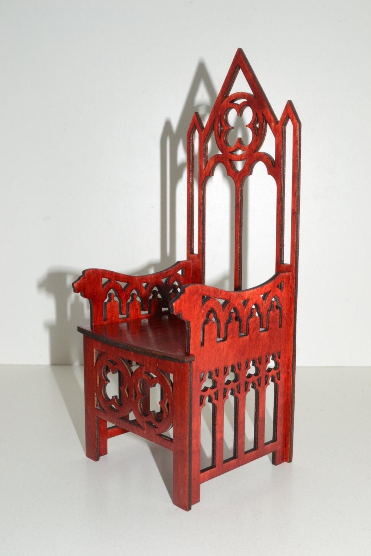 Silla Trono En Styl G Tico Para Mu Ecas Muebles De 12 Pulgadas # Muebles Goticos