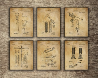 Mining Wall Decor, Mining Set of 6 Prints, Mining Poster, Mining Printable, Gift for Miner, Mining Group of 6 Patents - INSTANT DOWNLOAD -