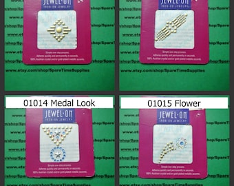 Jewel On - Iron on Jewelry - assorted designs - 1 pkg