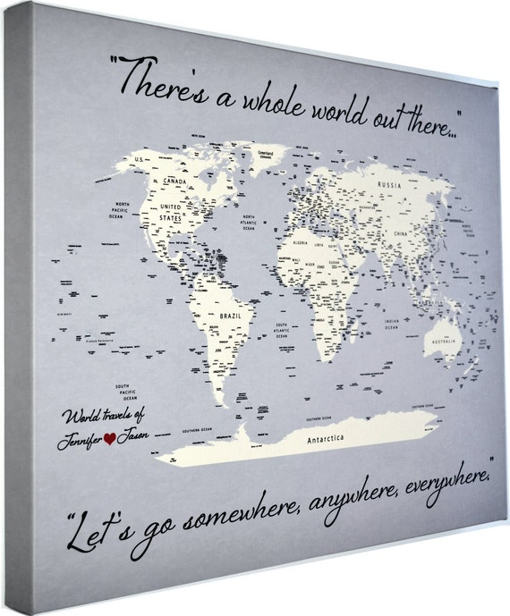 World Map Style Duk Finns På PricePicom - Personalized world map with pins