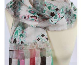 Colorful women silk scarf