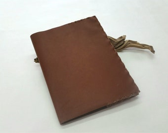 Brown Leather Composition Bookcover, Leather Comp Book Cover, Refillable Leather Notebook