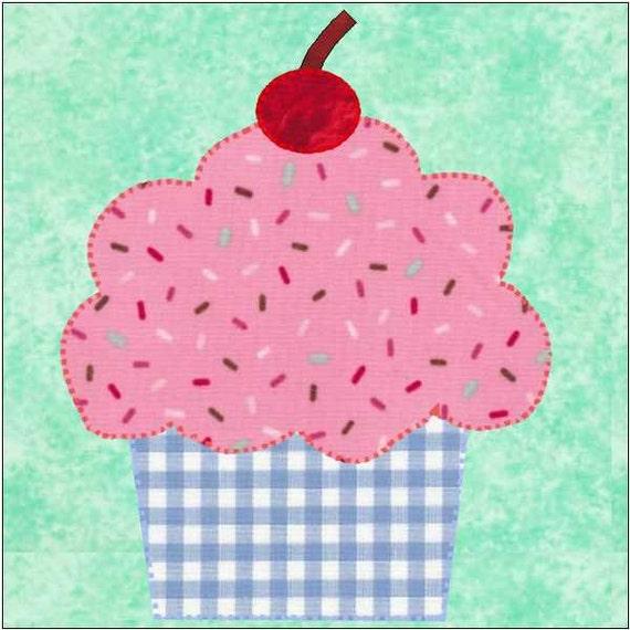 Cupcake Pattern Cupcake Quilt Block Cupcake Appliqué : cupcake quilt - Adamdwight.com