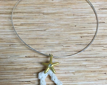 Gold Starfish Choker Necklace