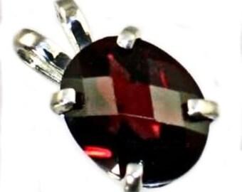 Mozambique Garnet, 925 Sterling Silver Pendant, SP002