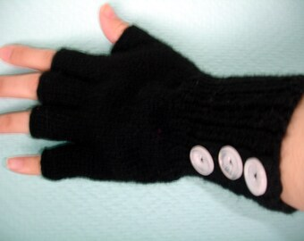 Custom Listing for Joseph Strong - knitted fingerless gloves with 3 buttons
