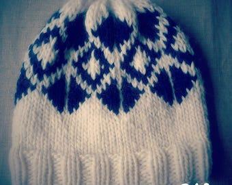 Handmade hats - knitting - 100% wool.