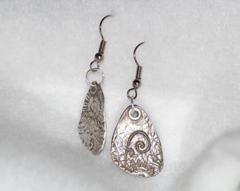 Textured Sterling Silver Swirls Earrings