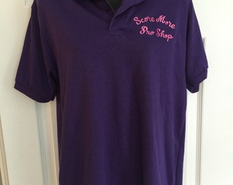 Vintage 1980s purple bowling polo shirt