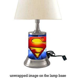 Superman Symbol Lamp With Shade, Logo