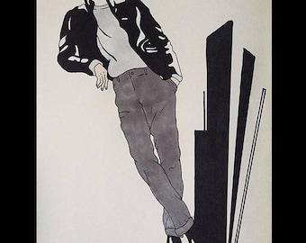 Surrealism Fashion Illustrated Art Print