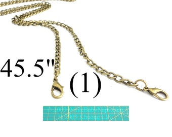 NEW 45 inch antique brass purse chain - shoulder length